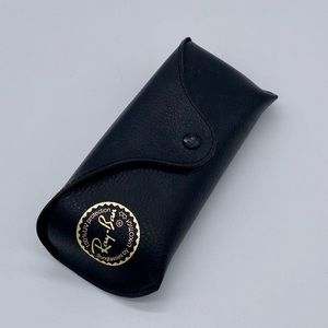 Ray-Ban Black Leather Glasses Case